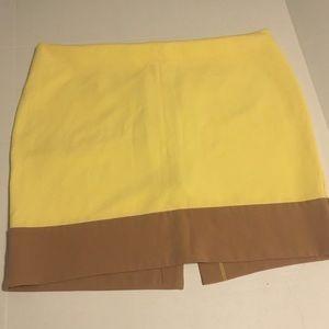NY&C Yellow and tan mini skirt size 18